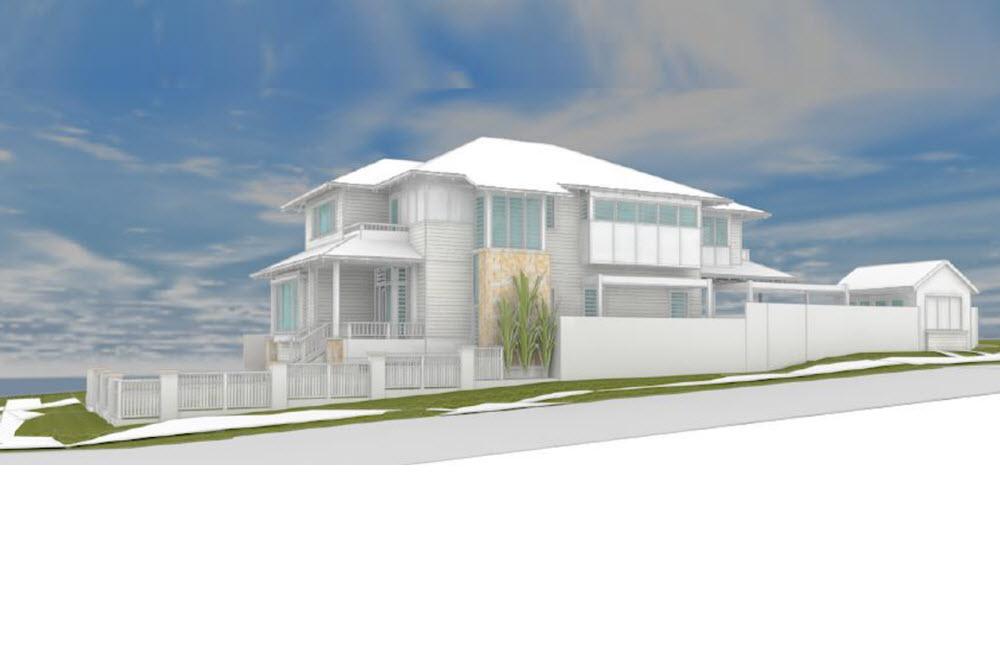 3D design of a big white home
